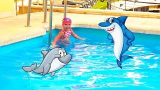 Swimming Song - Funny Nursery Rhymes pool swim songs for kids by Olivia   let's go do do do do do do