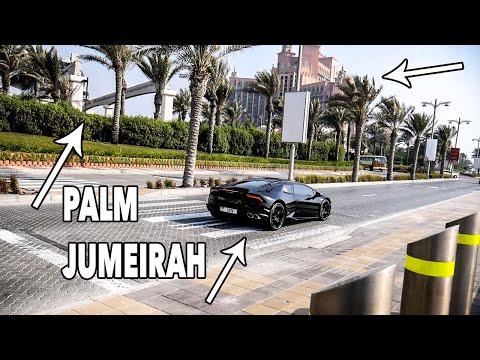 Palm Jumeirah Dubai Tour | Lamborghinis | Atlantis | Monorail |