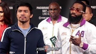 MANNY PACQUIAO VS. ADRIEN BRONER - FULL FINAL PRESS CONFERENCE AND FACEOFF VIDEO