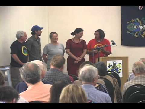 Pitcairn Islanders singing farewell at Bounty-Pitcairn Conference 2012, #1