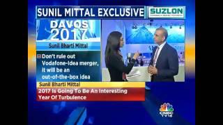 #Davos2017: Don't Rule Out Vodafone-Idea Merger: Bharti Enterprises