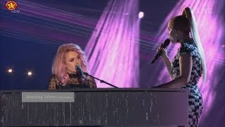"""Grace Davies Original Song """"Roots"""" duet with Paloma Faith 2nd song  X Factor UK 2017 Finals Saturday"""