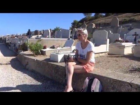 Romy Schneider film location Cimetiere Marin in St. Tropez 2015