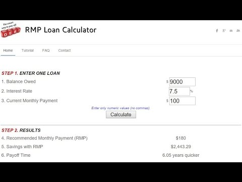 The Smart Way To Pay Off Debt RMP Loan Calculator Tutorial YouTube
