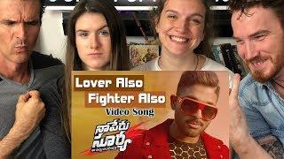Lover Also Fighter Also REACTION!! |  Allu Arjun