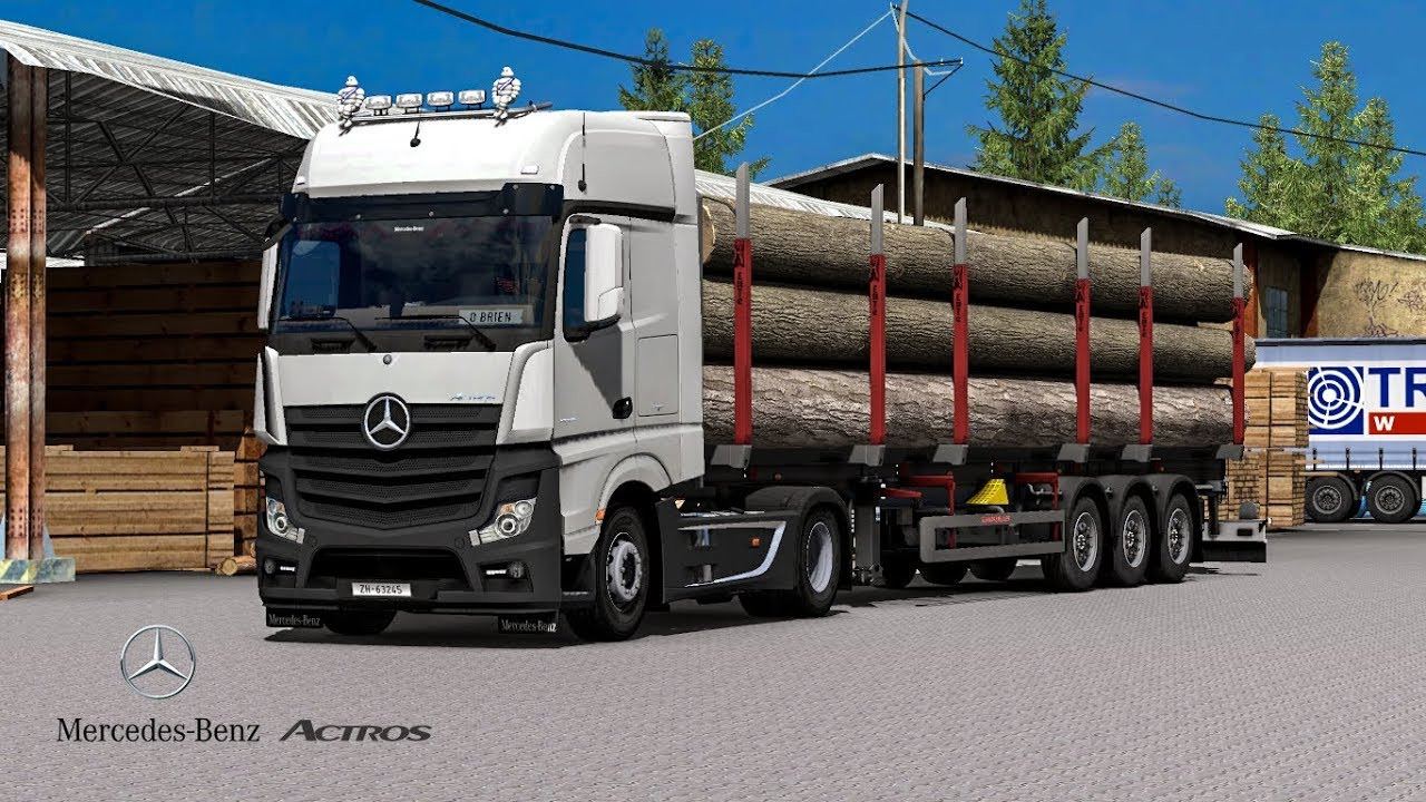 Najnowsze Euro Truck Simulator 2 Mercedes Actros MP4 Reworked v1.5 Schumi UC57