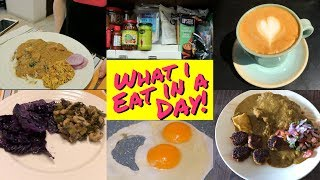 What I Eat In A Day! 🥐🍝🍛🍣🍓🍳☕️🍮