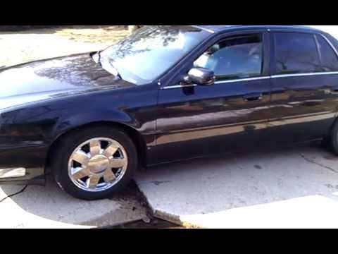 2001 Cadillac Deville Dts Black W Black Leather Interior Chrome