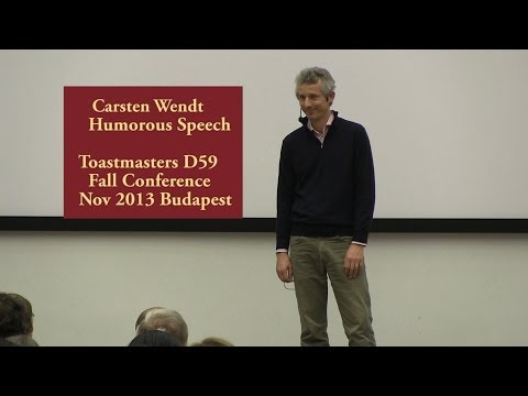 Carsten Wendt Humorous Speech at Toastmasters District 59 Fall Conference 2013 Budapest