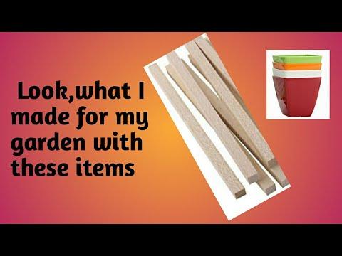 कैसे बनाएँ flower pot holder by long square pine wood/DIY