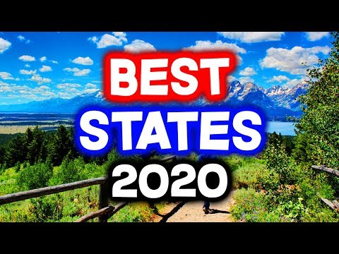 Top 10 BEST STATES To Live In America For 2020