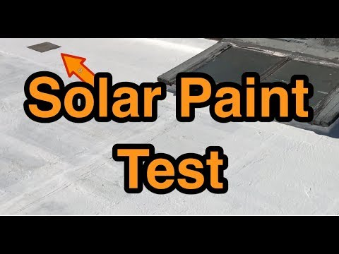 Solar Paint  Flat Roof Test