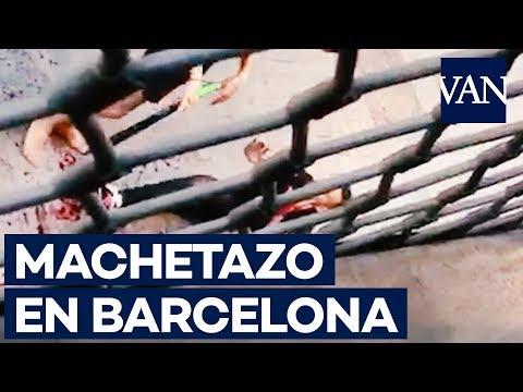 Agresión a machetazos en el centro de Barcelona