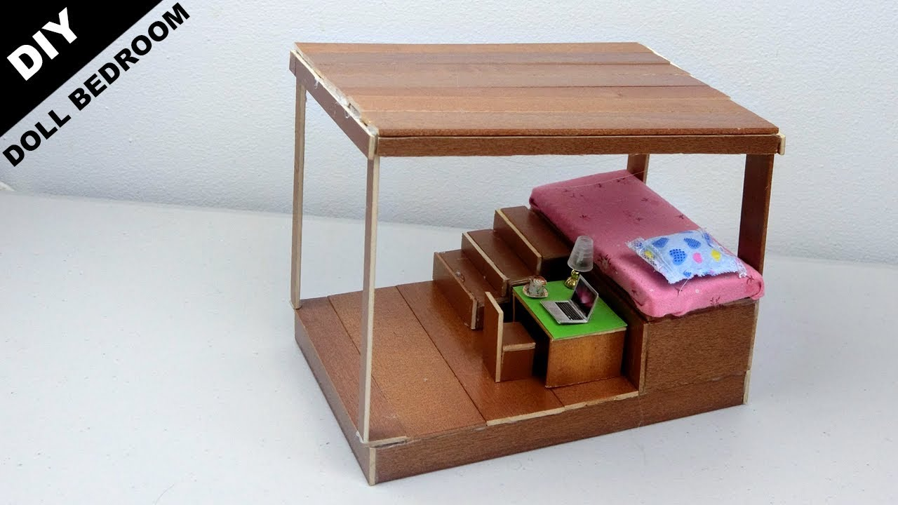 Diy Wooden Dollhouse Bedroom 14 Easy Quick Craft Ideas For
