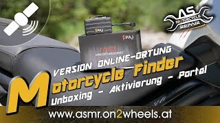 "➤ PAJ MOTORCYCLE FINDER ""VERSION ONLINE ORTUNG""  UNBOXING - AKTIVIERUNG - FINDER PORTAL  GPS Tracker"