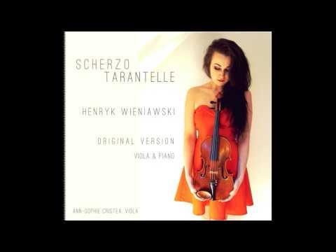 Scherzo Tarantelle Wieniawski Original Violin Version for Viola and Piano