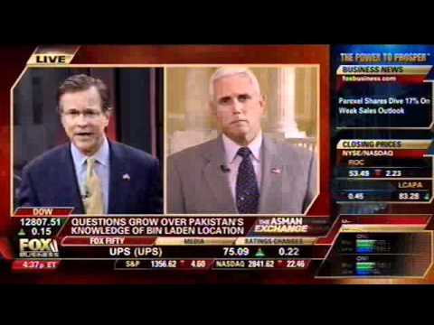 Rep. Pence Speaks about Pakistan on Fox Business' Bulls and Bears - May 3, 2011