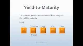 Bond Yield to Maturity