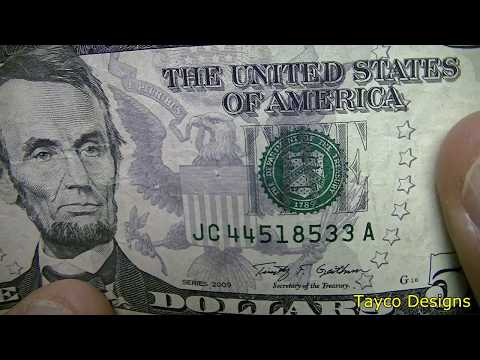 $5 Dollar Bill Serial Number Search $500 Stack