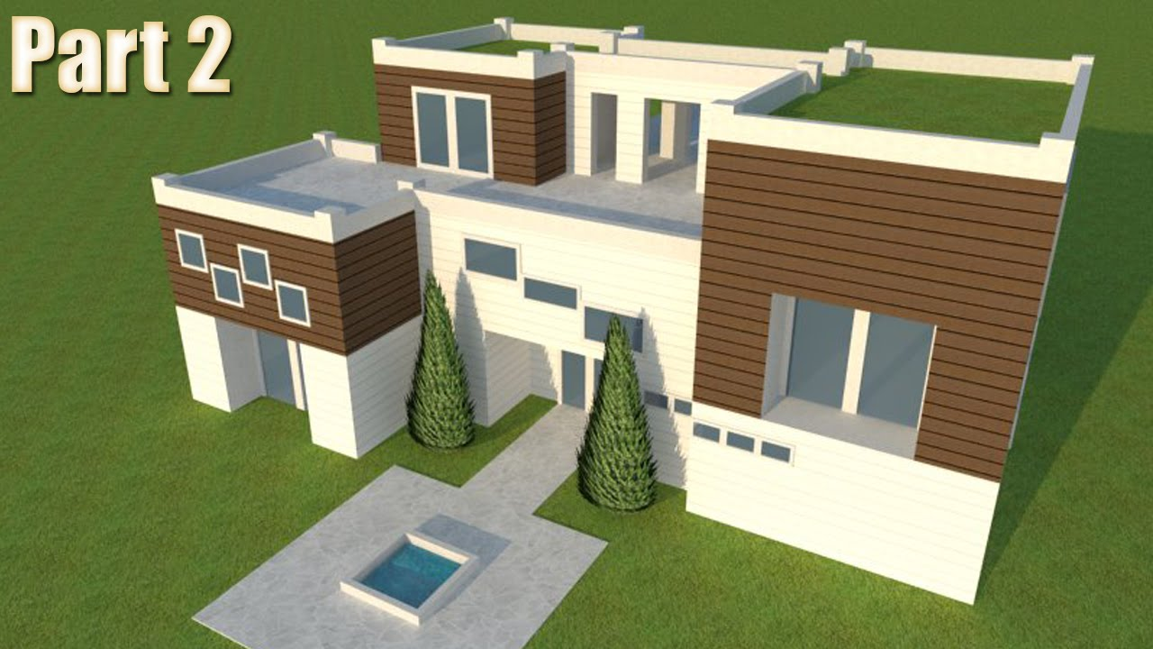 #5   Modern Building Design In Free Google SketchUp 8 Part 2   YouTube