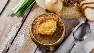 Как приготовить французский суп😋   луковый суп    Французский луковый суп