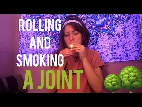 SMOKING A JOINT || Rolling Joint and FACING IT.