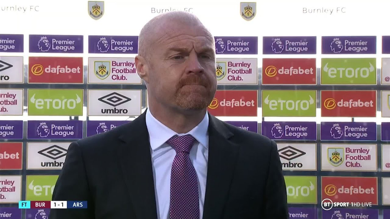 """That's what VAR is for"" Sean Dyche praises Burnley players after 1-1 draw vs Arsenal"