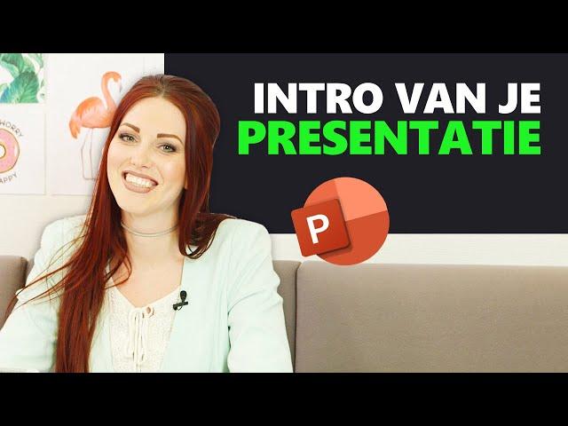 #1 Inspirerende titel slide maken in PowerPoint | Bedrijfspresentatie in 12 stappen | PPT Solutions