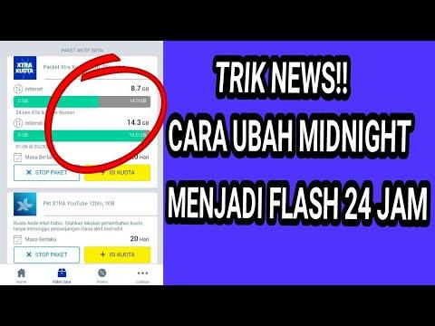 Trik Ubah Kuota Midnight Xl Menjadi 24 Jam Youtube