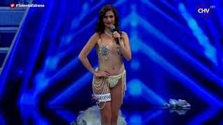 Destape total: El sensual número de burlesque de Catalina Vera - TALENTO CHILENO 2015