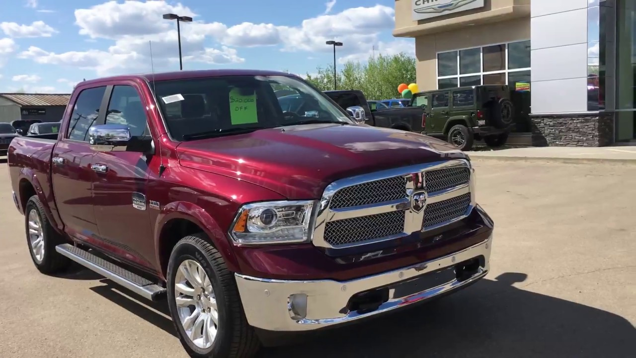Ram 1500 Running Boards >> 2017 Ram 1500 Longhorn | Red Pearl | Edmonton, AB - YouTube