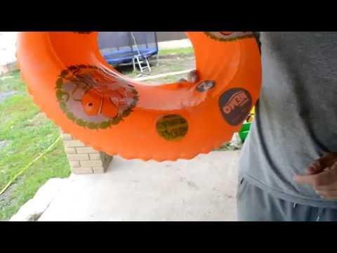 Как заклеить детский надувной круг