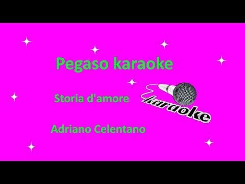 karaoke con cori Storia d'amore Adriano Celentano
