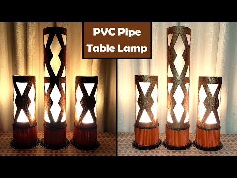 PVC Pipe Lamp - How to Make Table Lamp Using PVC Pipe & Tissue Paper - PVC Pipe Projects