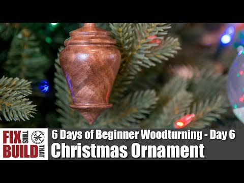 How to Make a Wooden Christmas Ornament | Beginner Woodturning Projects Day 6
