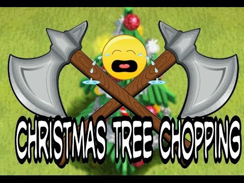 Clash of clans cutting down my x-mas trees