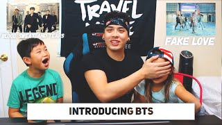 INTRODUCTION TO BTS | KIDS REACT TO (FAKE LOVE & BLOOD, SWEAT, AND TEARS!)