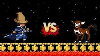Pepe el Mago vs. Retro Toro en Super Mario Maker !!