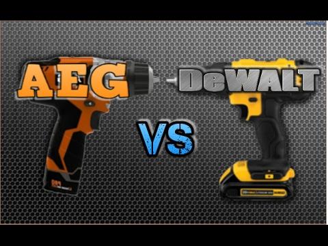 AEG vs DeWALT # ответ на комментарии