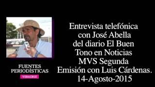 Entrevista José Abella en MVS Segunda Emisión con Luis Cárdenas