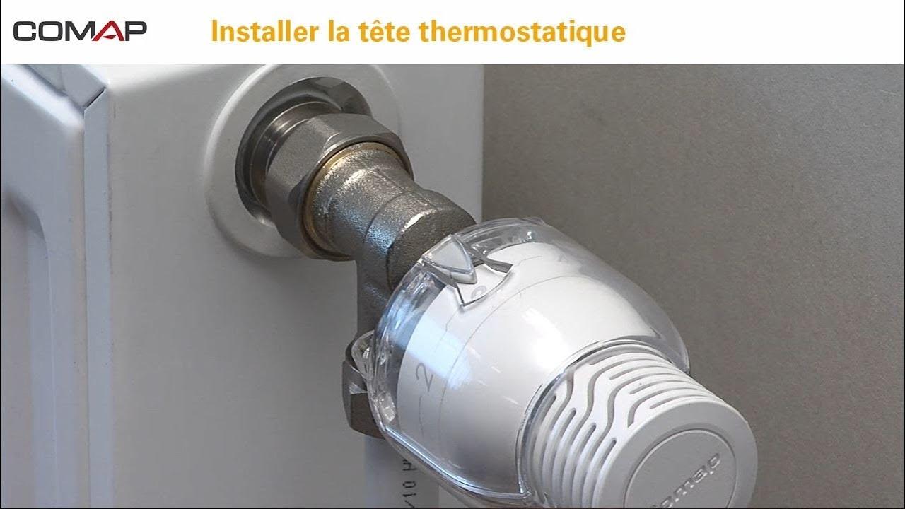 Installation Tête Thermostatique Sensity Avec Bague Anti Vandalisme