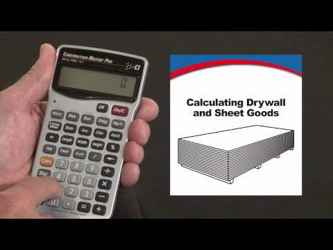 Construction Master Pro Calculating Drywall How To