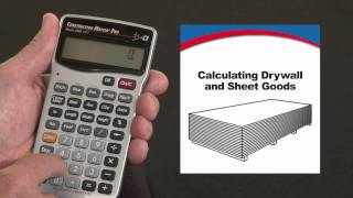 How to Calculate Drywall and Sheet Goods | Construction Master Pro