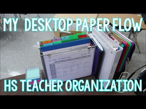 My Teacher Desktop Paperflow | Teacher Organization