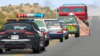 EPIC POLICE CHASES #37 - BeamNG Drive | CRASHdriven