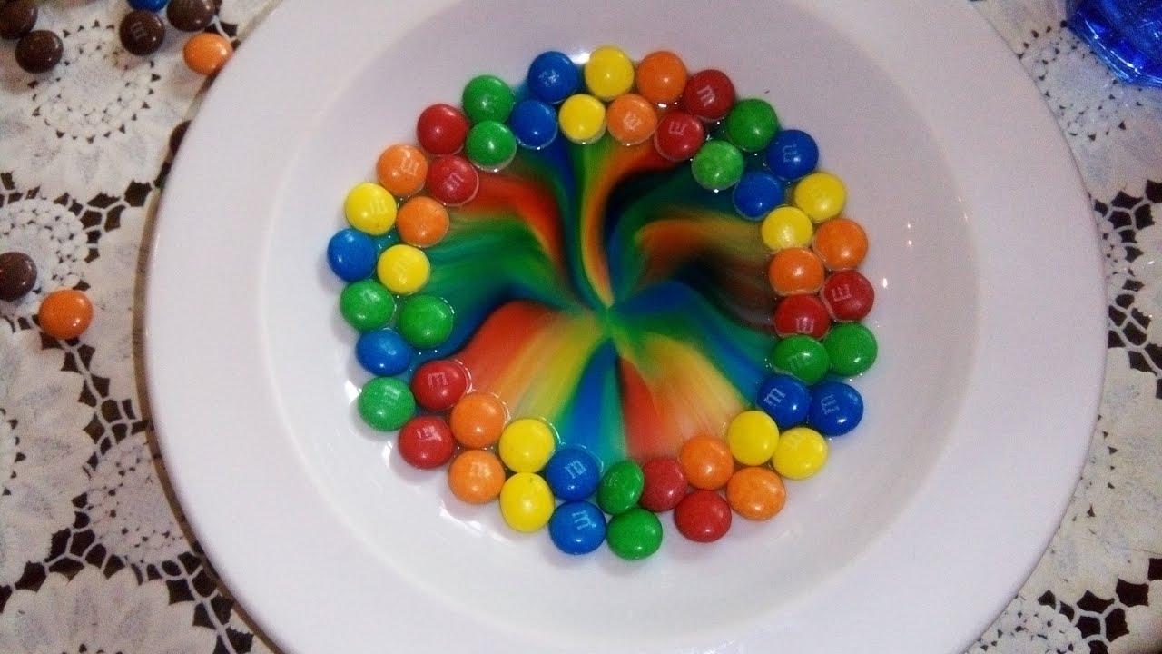 M Amp M S Amazing Rainbow Experiment
