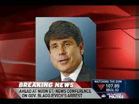 Illinois Governor Rod Blagojevich arrested