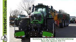 Agribumper - Sicherheitsstoßstange am Deutz-Fahr Agrotron 9340 TTV montiert :)