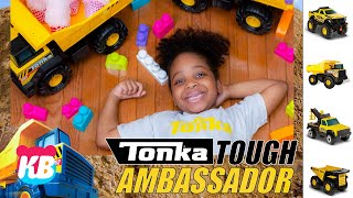 Kyra is TONKA TOUGH   Kamdenboy & Kyraboo Fun & Pretend Play