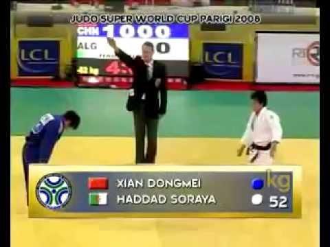 JUDO 2008 Tournois de Paris: Dongmei Xian 冼东妹 (CHN) - Soraya Haddad (ALG)